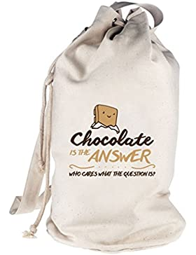 Chocolate Is The Answer, bedruckter Seesack Umhängetasche Schultertasche Beutel Bag