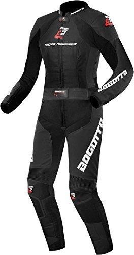 4b130138d1 Bogotto Losail 2-Teiler Damen Motorrad Lederkombi Schwarz 40