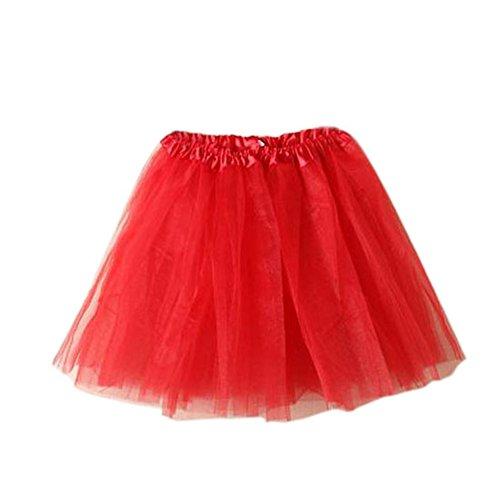 nirock Petticoat Tanzkleid Ballettrock Pettiskirt Unterrock, Mutter, Rot (Tutu Frauen)