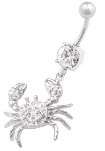 bauchnabel piercing bauch Chirurgenstahl Stecker mit Swarovski Kristalle -