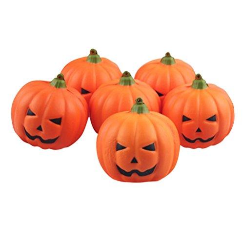 PINEsong Interessant Halloween Künstliche Kürbis Simulation gefälschte Naturgetreue Requisiten Garten Home Decor (A, - Schablonen Tinkerbell Halloween-kürbis