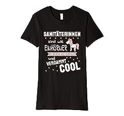 Damen Sanitäterin - wie Einhörner lustiger Spruch T-Shirt