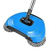 RFDE Besen Handstoßart Kehrmaschine Haltegriff Magische Besen Kehrschaufel Mop Haushaltsreiniger, Blau