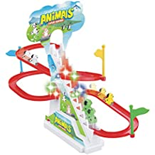 Popsugar Happy Dog Race Track Set with Music and Lights,