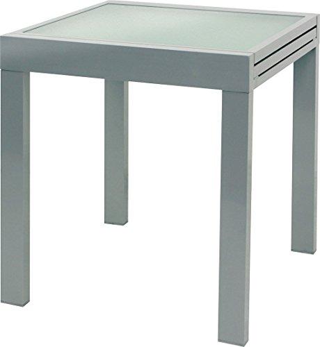 IB-Style - XL Table de jardin 65 - 130 cm argenté qualité supérieure alu Table extension Meubles de jardin