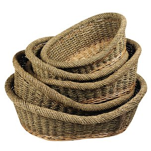 Perros cesta Natural mimbre & algas, 51cm # 500255