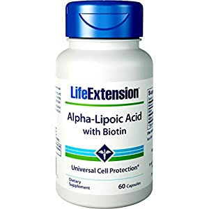 415TGnTmIFL. SS300  - Life Extension, Super Alpha-Lipoic Acid, with Biotin, 250 mg, 60 Capsules