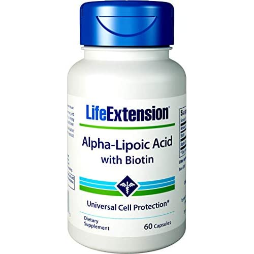 415TGnTmIFL. SS500  - Life Extension, Super Alpha-Lipoic Acid, with Biotin, 250 mg, 60 Capsules