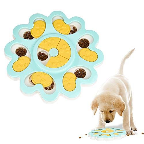 Furpaw Giocattolo Cibo Cani, Giochi Interattivi per Cani Divertimento Nascondere Cibo Gioco per Cani Ciotola Anti Ingozzamento - Giallo