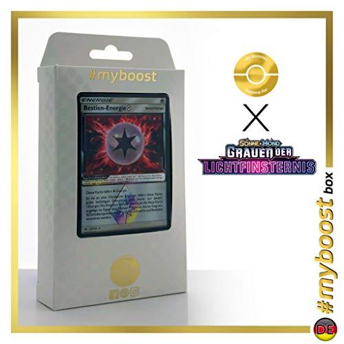 Bestien-Energie 117/131 Holo-Prisma - #myboost X Sonne & Mond 6 Grauen der Lichtfinsternis - Box mit 10 Deutsche Pokémon-Karten (Pokemon Energy Switch)