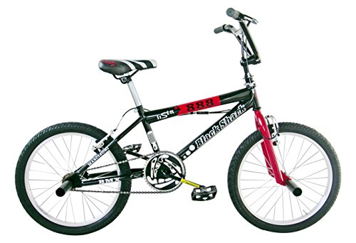 Black Shark DBX20000B5, Bicicletta Bambino, Nero, S