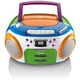 Lenco SCR-97 Kids CD-Player (MP3, LCD-Display, FM-Radio) mit Kassettenplayer
