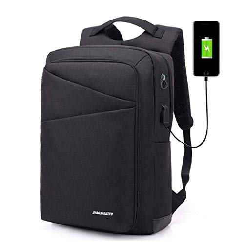 Backpack Men's Business Simple Student Bag Fashion Europe and America USB Computer Bag Leisure Travel Charging Backpack - Computer Credit Card Processing
