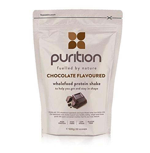 Milk-shake protéiné et diététique au chocolat (500 g) idéal pour la perte de poids et la récupération après l'effort - substitut de repas 100 % naturel - smoothie petit déjeuner