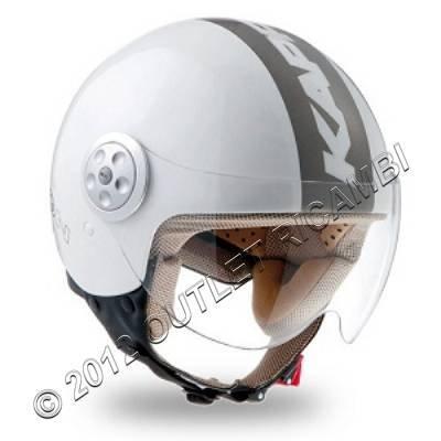 Bianco S BHR 45569 Casco Moto Demi Jet Modelo 801 con Linea