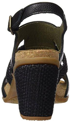 Mola Toe Grano Naturalista El Donna Di N5031 nero Pompe Open Morbido Colore qtIwHwc0