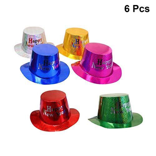 Amosfun 6 piezas feliz año nuevo sombreros fiesta
