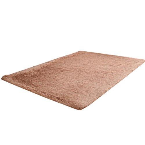 fat. chot flauschig Teppiche Weiche Anti-Rutsch Shaggy Teppich Bodenbelag Esszimmer Home Schlafzimmer Bereich Teppich Square Pad rutschfeste Matten, Polypropylen, braun, 50 x 80cm - Ivory Square Teppich