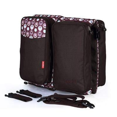 GD-YMX Babywiege, tragbare Reisekrippe, Wickeltasche, Wickelstation mit Mat te, faltbares Bett, multifunktionale Tragetasche für Babys im Alter von 0-12 Monaten (Brown)