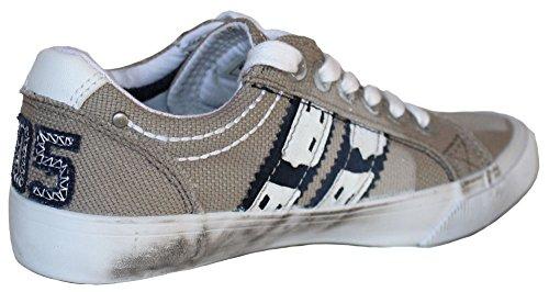 Q1905 Santos Junior Sneakers Grey Hound White