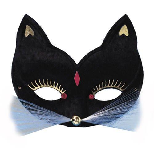 schwarz (Halloween Katze Schnurrhaare)