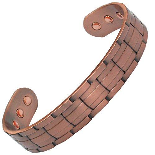 MPS NORAD Kupfer Magnettherapie-Armband, mit kostenlosem Geschenk Geldbörse (Für ein Handgelenk von 17 bis 20 cm)