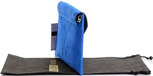 Borsa Con Tracolla, Polso, Tracolla O Tracolla In Pelle Scamosciata Italiana. Include Una Custodia Protettiva Di Marca Blu Royal