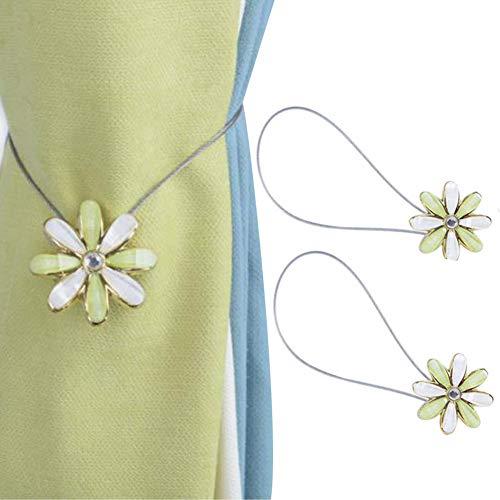 Chinashow 1 Paar Cosmos Magnetic Flower Curtain Clips Raffhalter Holdbacks Dekorative Vorhang Holdbacks, Cyan