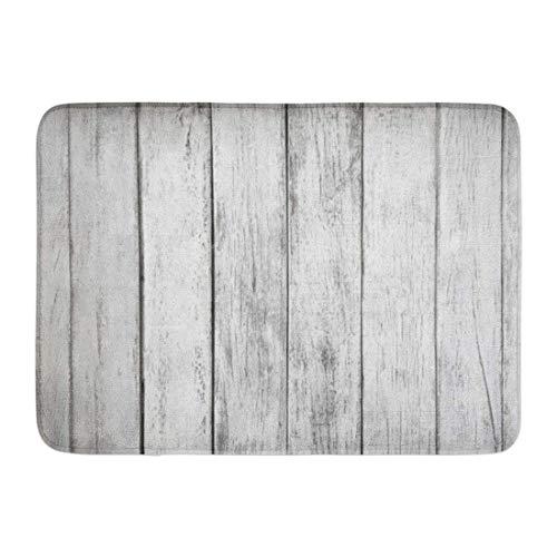 mfsore Koperororo Doormats Bath Rugs Outdoor/Indoor Door Mat Gray Rustic White Plank Wood Table Abstract Aged Architecture Board Bathroom Decor rug 16' x 24'