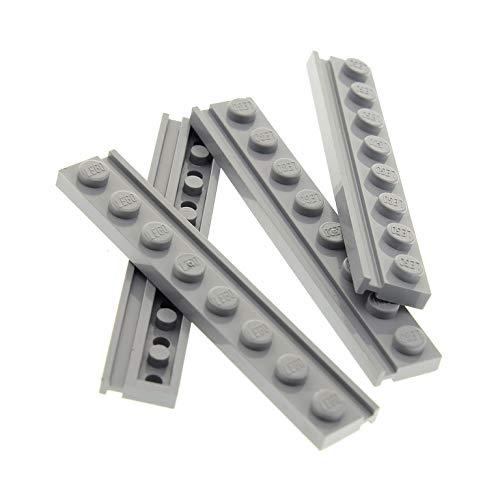 Bausteine gebraucht 4 x Lego System Führungsschiene Leiste neu-hell grau 1x8 mit Nut Führung Tür Schiene Stein 70172 75189 10179 4184 10214 4510