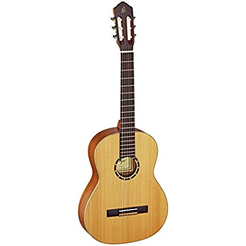 Ortega R131 - Guitarra clásica (cedro y caoba, tamaño 4/4), color negro