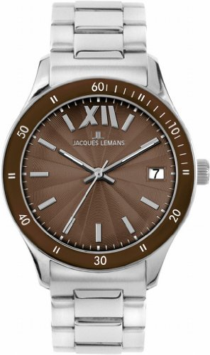 Jacques Lemans Rome Sports Unisex Wrist Watch Analog Quartz Stainless Steel 1/1622 W1