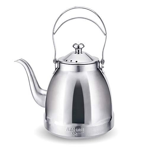 Teekessel aus Edelstahl für Stovetop, Elektrischer Wasserkocher mit Infuser, Spülmaschinenfest für loser Tee, Blühender Tee 1,5 l / 51 oz,matte (Elektrische Infuser Tee Wasserkocher)