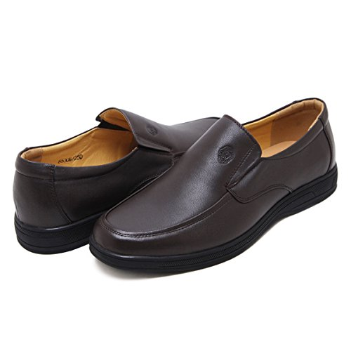 LRTU Mocassins Chassure Homme Cuir Vache Confort a enfiler Loafers Chassure de Ville Simple 85305 Marron