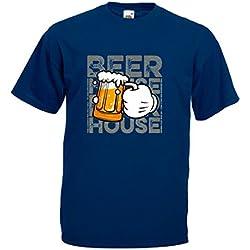 Camiseta manga corta unisex transfer Mano con jarra de Cerveza
