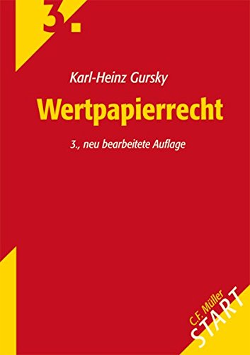 Wertpapierrecht (Start ins Rechtsgebiet)