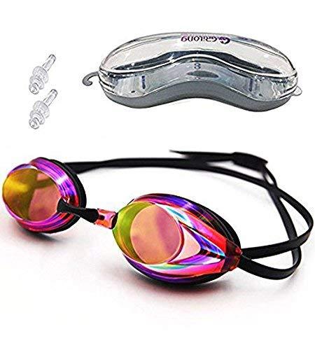 Schwimmbrille UV-geschützt Antibeschlag wasserdicht Schwimmen Spiegel für Erwachsene Kinder