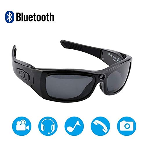 NAMENLOS Stereo Bluetooth Kamera Sonnenbrille Full HD 1080P Video Recorder Kamera mit UV-Schutz polarisierte Linse, EIN tolles Geschenk für Ihre Familie und Freunde