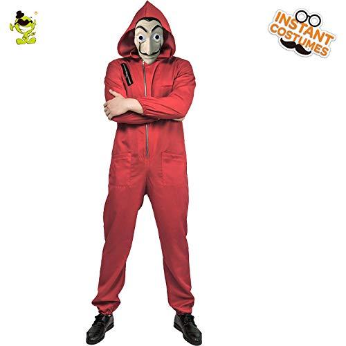 Kostüm Papa Mir Und - GAOGUAIG AA Erwachsener Mann Dali Film Kostüm Rollenspiel Geldraub Cosplay Halloween Party Kostüme mit Gesichtsmaske Gib mir eine Nachricht über die Größe SD (Color : Onecolor, Size : Onesize)