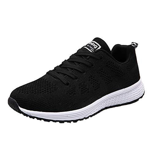 ♥‿♥ Loveso Mode Schuhe Damen,Frauen Berufsschuhe Cross-Trainer Sneaker Schuh-Slip-on Turnschuhe Outdoor-Sportarten Gehen Flache Schuhe (EU:37, Schwarz)