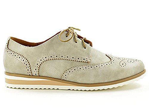 Foster Footwear - Brogue da ragazza donna Silver