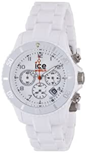 ICE-Watch - Montre Mixte - Quartz Analogique - Chrono - White - Unisex - Cadran Blanc - Bracelet Plastique Blanc - CH.WE.U.P.10