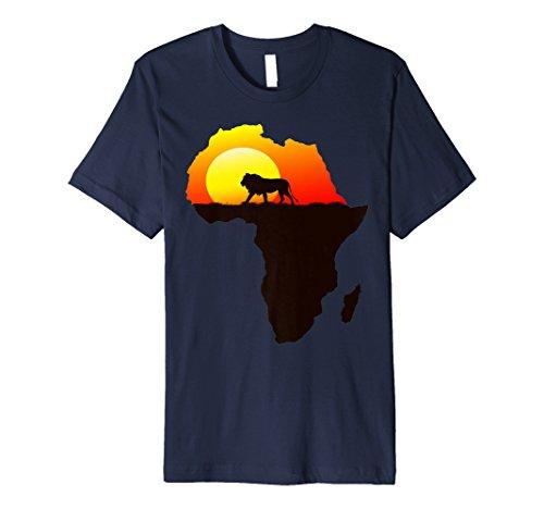 Majestätischer Löwe schlendert in die Sonne Afrika Silhouett (König Der Löwen T Shirt Kinder)