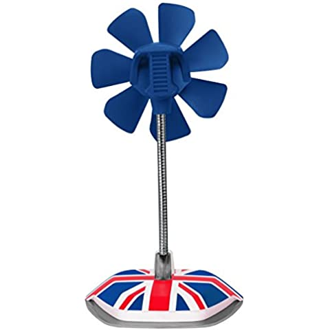 ARCTIC Breeze edición nacional - UK - Ventilador de escritorio USB con velocidad regulable y cuello flexible