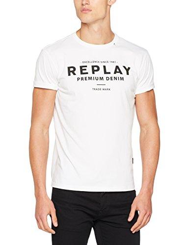 Replay Men's Logo Shirt T-Shirt, White (White 1), Medium for sale  Delivered anywhere in UK