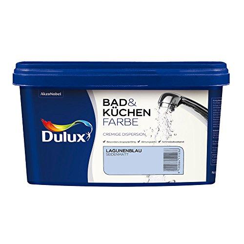Dulux 5087517 Bad-& Küchenfarbe matt, Lagunenblau