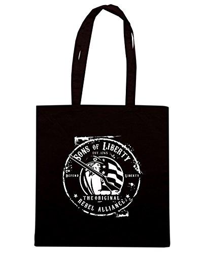 T-Shirtshock - Borsa Shopping TM0641 sons of liberty original rebel alliance Nero