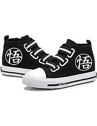 Nqdkfjeffr Dragon Ball Zapatos Zapatos Precioso impresión de la Lona del Alto-Top Zapatos no Zapatos Congestión pies de los niños Zapatos del Ocio niños y niñas