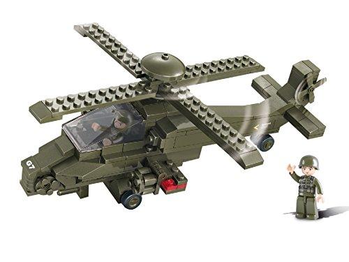 Funstones - Baustein Set US Army Kampf Hubschrauber United States Armee + Figur Bausatz
