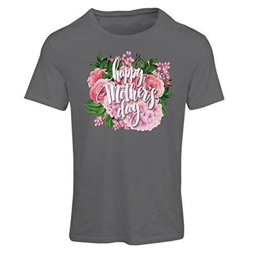 T-shirt femme Happy Day des Mères - cadeaux parfaits Mère fille, fils, mari Graphite Multicolore